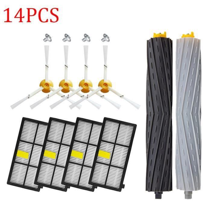 Kit de filtres et brosses HEPA pour aspirateur Robot iRobot Roomba, accessoires de pièces détachées, séries 800 9 SMT190 -BH1843