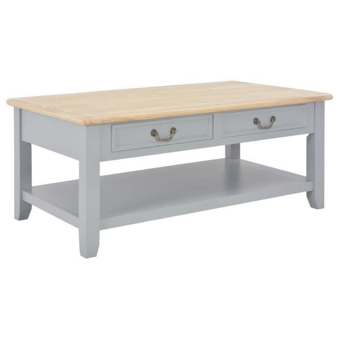Table basse Gris 100 x 55 x 40 cm Bois