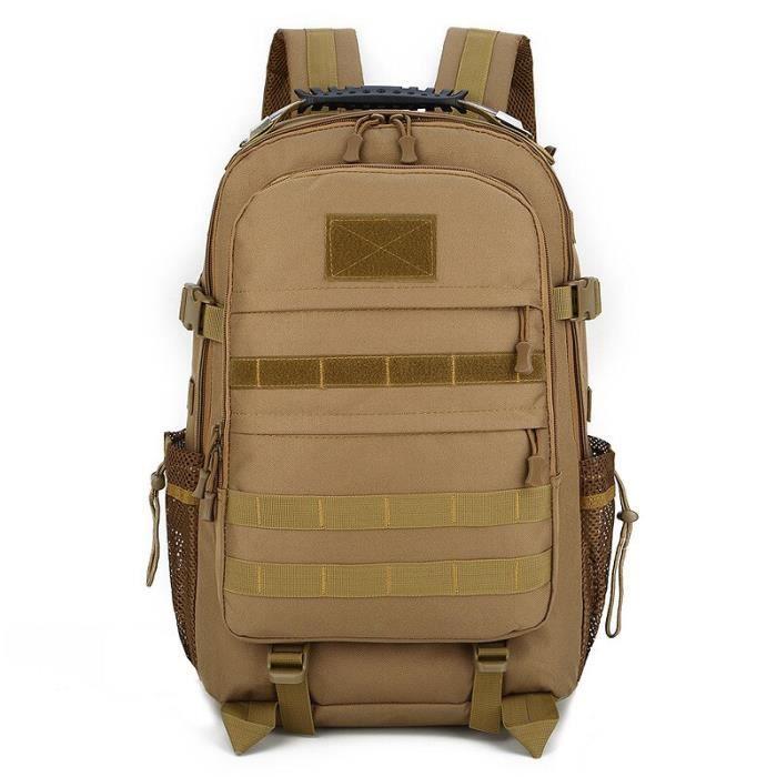 KHAKI -Sac à dos de Camouflage militaire classique, Molle, Nylon étanche, multifonction, tactique militaire, sac de randonnée de Cam