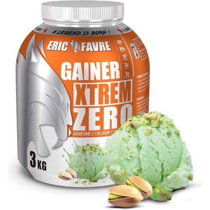 Eric Favre - Gainer Xtrem Zero - Protéines prise de masse - Pistache - Gainers - Pistache