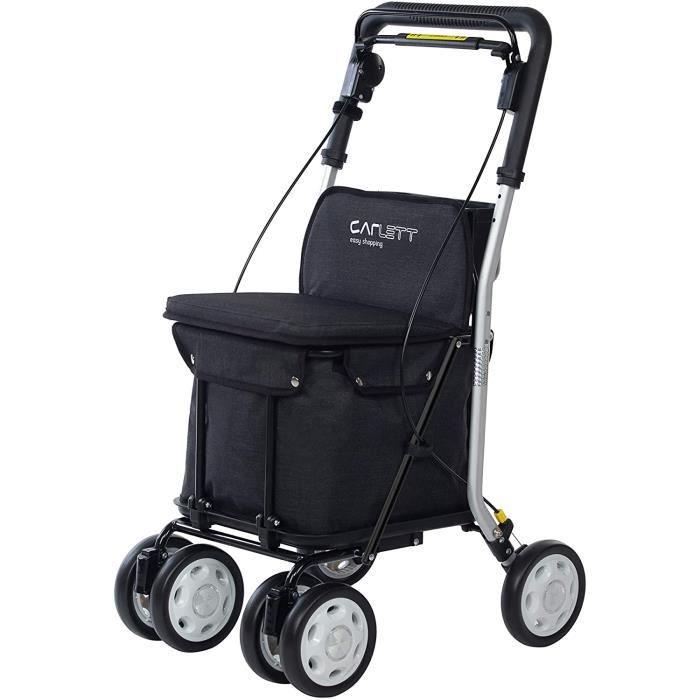 CHARIOT DE COURSES Carlett Chariot de Courses Lett 800 Noir 202042