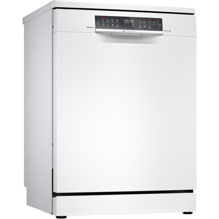 Lave-vaisselle pose libre BOSCH SMS6ZCW48E - 14 couverts - Moteur induction - L60cm - 42 dB - Connecté - Inox