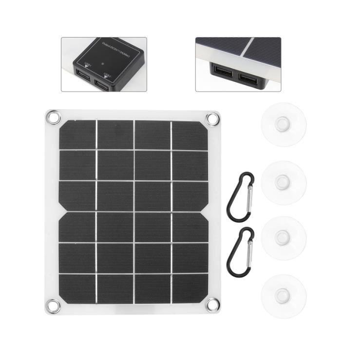Panneau d'alimentation solaire 1pc Puissance mobile kit photovoltaique - kit solaire genie thermique - climatique - chauffage