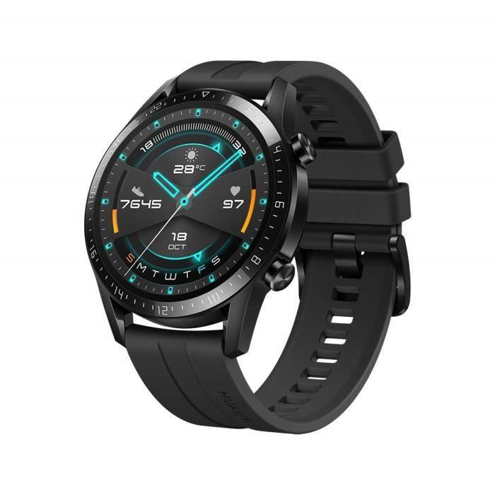 HUAWEI Watch GT 2 46mm Sport Noir GPS 14 jours bluetooth 5.0 Tracker de fréquence cardiaque d'oxygène sanguin pour Android