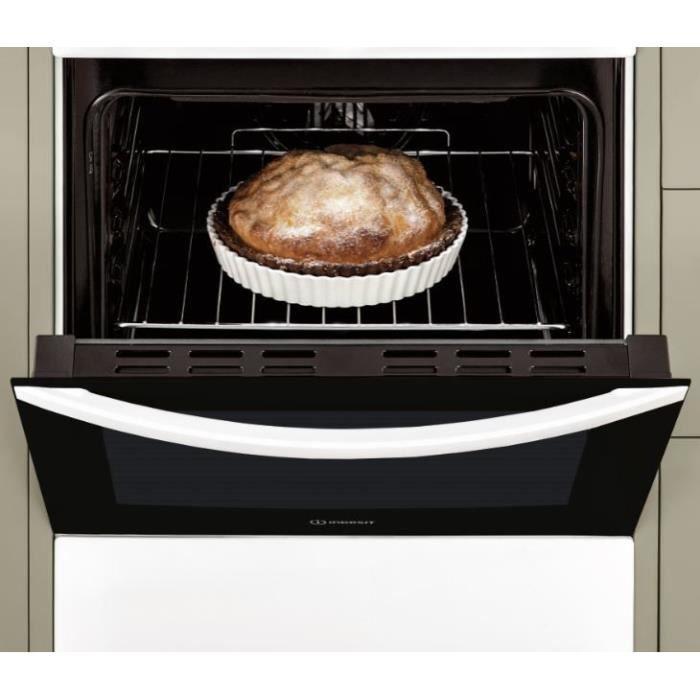 INDESIT - IS5E5PCW/E - Cuisinière électrique - 4 foyers - 7000W - Four Catalyse - 59L - A - 50x60cm - Blanc