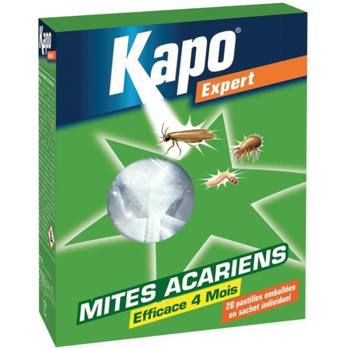 Pastilles anti-mites, acariens - lot de 20