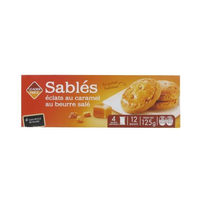 [Lot de 12] Biscuits sablés - 125g par paquet