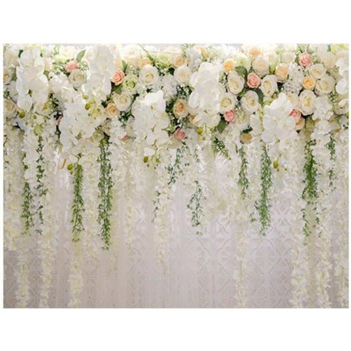 Toile de fond Studio Photo Photographie Fleur Anniversaire Mariage 210x150cm