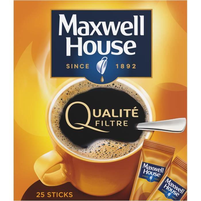 MAXWELL HOUSE Café soluble Qualité filtre - x25 45 g