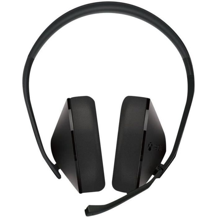 MICROSOFT Casque Xbox One Stereo Headset - Pleine taille filaire - Noir
