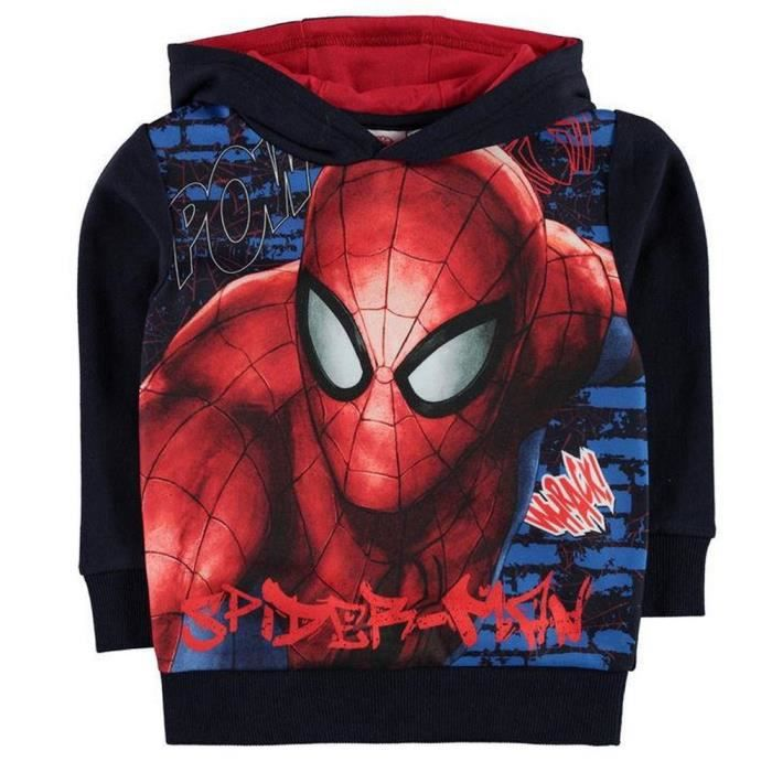Sweat-shirt à capuche Enfant Spiderman