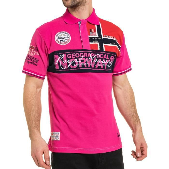 Polo Homme Geographical Norway Koala Rose