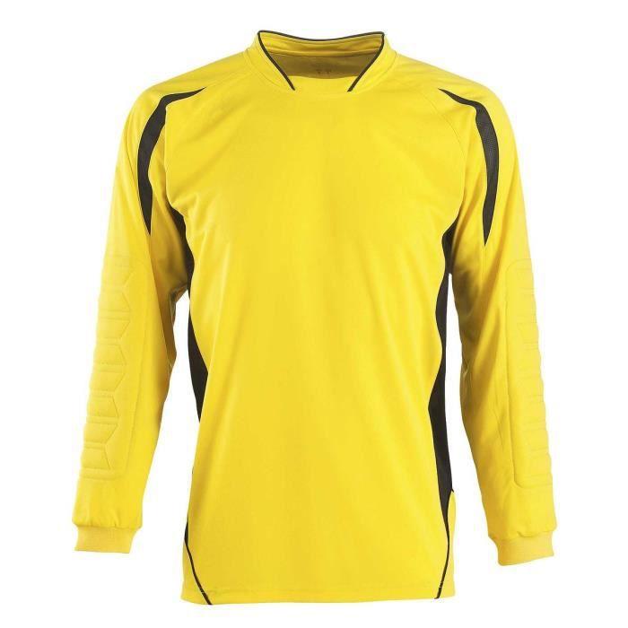 Maillot de foot pour gardien de but adulte 90208 - jaune