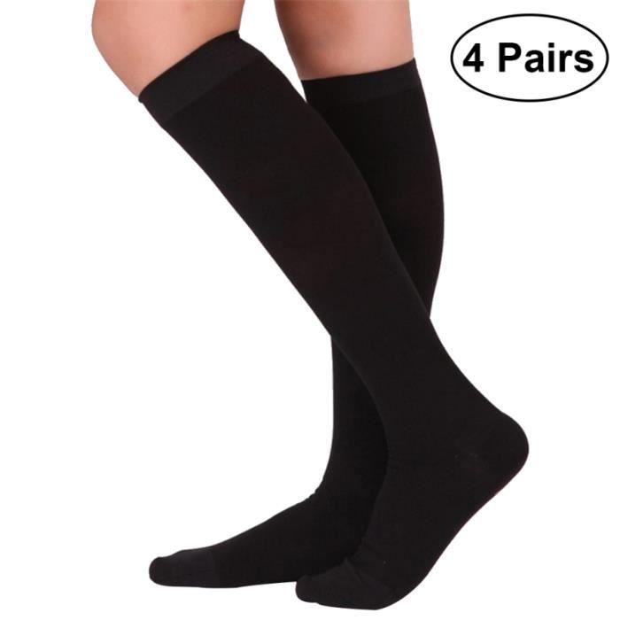 4 paires de chaussettes de compression femmes hommes bas anti-fatigue genou respirantes pour RECOVERY SOCKS - COMPRESSION SOCKS