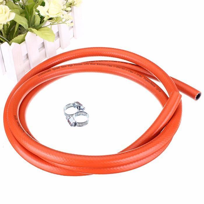 Calor Gas Marque 2/MT 8/mm Orange GPL Tuyau de gaz pour propane//butane avec clips de fixation