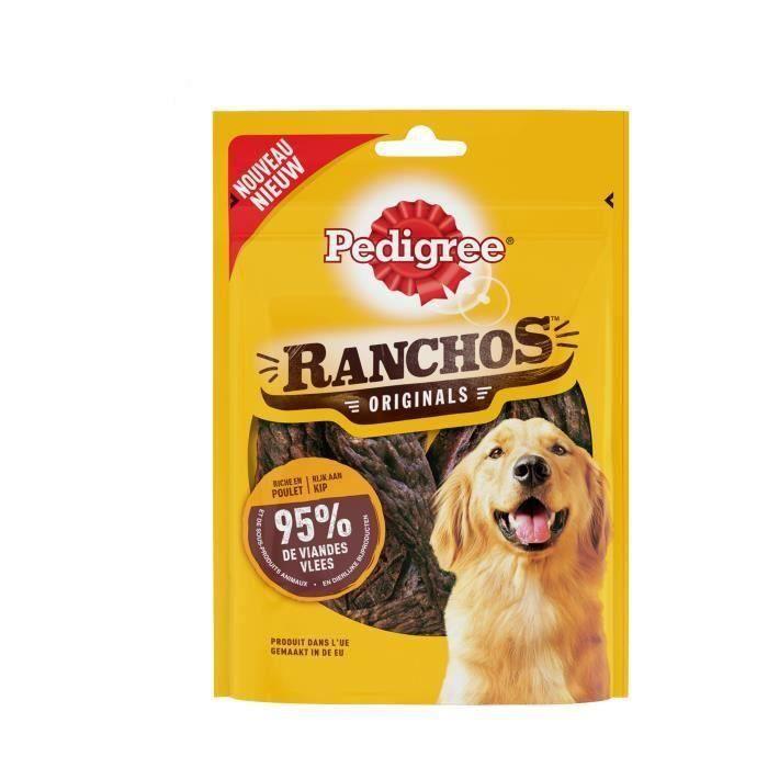 PEDIGREE Récompenses riche en poulet Ranchos - Pour chien - 7 x 70 g