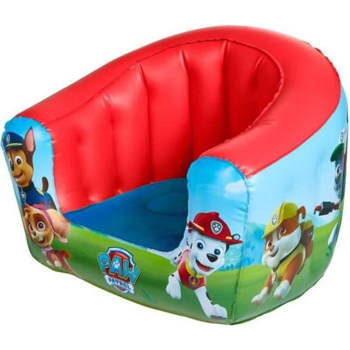 Fauteuil gonflable pour enfants, motif La Pat Patrouille - Dim : 35 x 42 x 38 cm