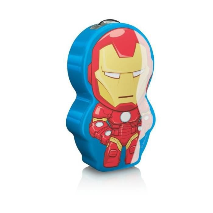 DISNEY - Lampe torche à pile LED Iron Man H9,2cm