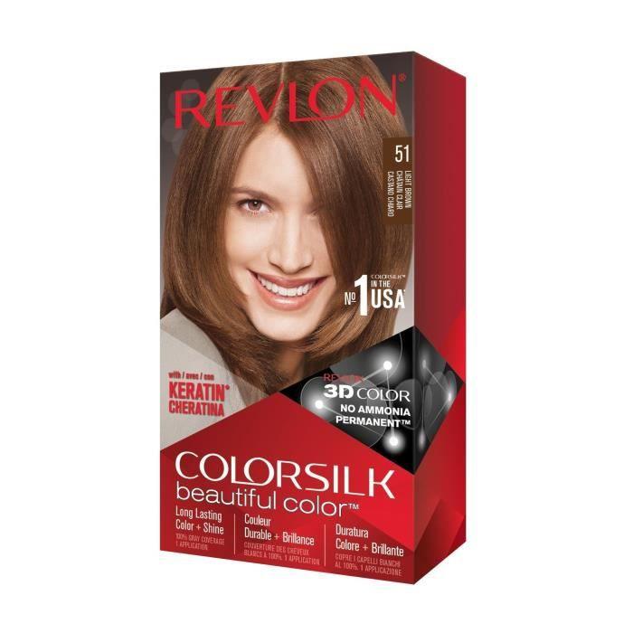 COLORSILK Coloration N°51 - Châtain clair - 59,1 ml