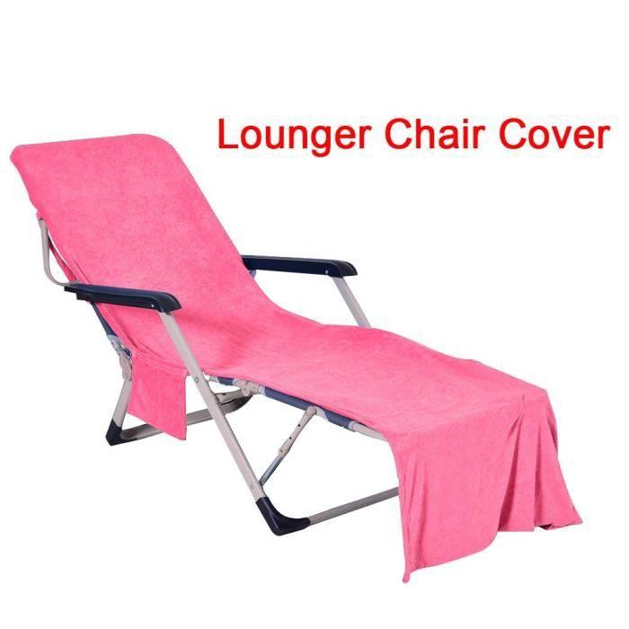 Pliante Sun Leisure Chaise Longue réglable et Portable Jardin extérieur Meubles Sun Lit, Housses de Chaise Longue Plage rose