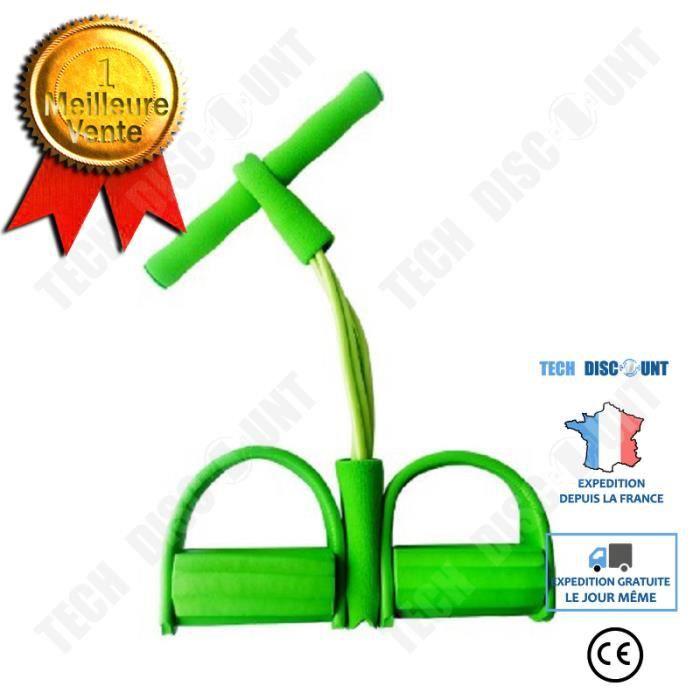 TD® Élastique de Résistance Rameur Abdominale Jambe Fitness Sport-vert