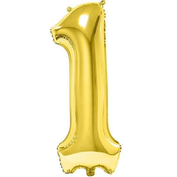Ballon géant anniversaire or chiffre 1 (x1) REF/BA3012