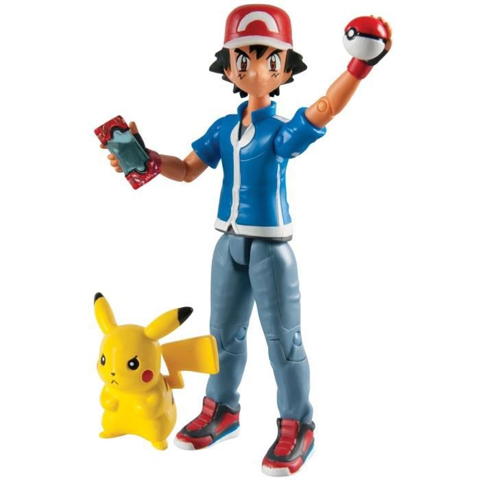 POKEMON Pack Figurine Action Sacha & Pikachu