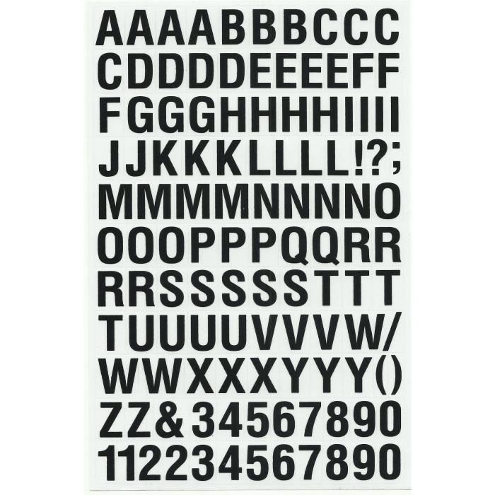 emblèmes d/'imprimer votre propre A-Z Lettres et chiffres Iron on Transfer Blanc 35 mm