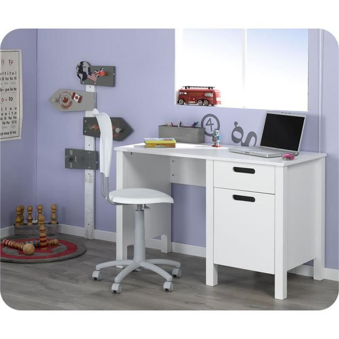 bureau enfant campus blanc achat vente bureau bureau. Black Bedroom Furniture Sets. Home Design Ideas