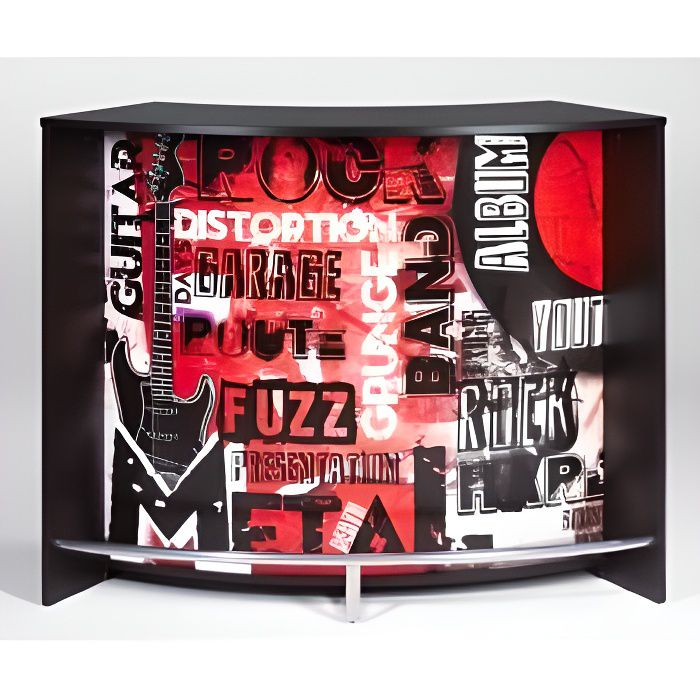 meuble bar comptoir de cuisine accueil noir achat. Black Bedroom Furniture Sets. Home Design Ideas