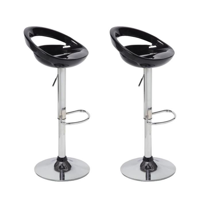lot de 2 tabourets de bar smile noir achat vente tabouret de bar noir cdiscount. Black Bedroom Furniture Sets. Home Design Ideas