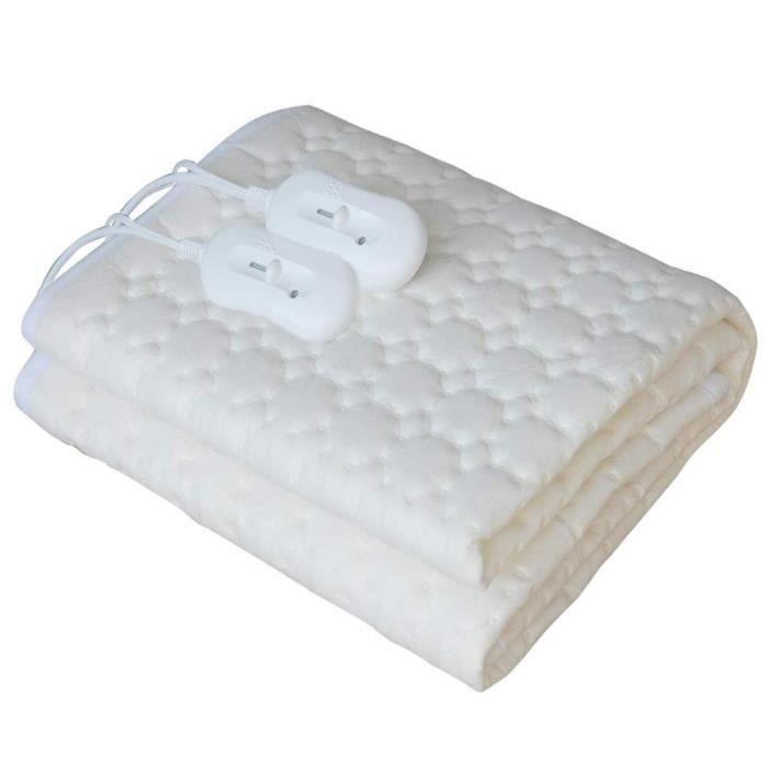 AEG Couverture chauffante électrique Chauffe-matelas Blanc 60 W WUB 5647