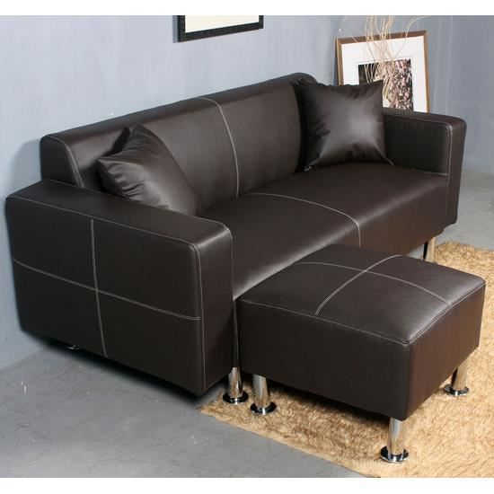 fauteuil de sofa canap sofa trois places pu brun achat vente canap sofa divan pu. Black Bedroom Furniture Sets. Home Design Ideas