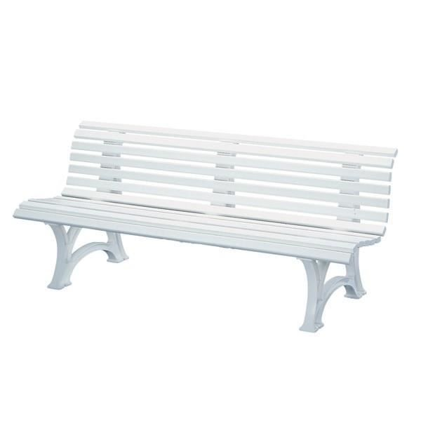 banc de jardin blanc en r sine pvc mod le neptune l 150 x p 64 x h 80 cm achat vente banc. Black Bedroom Furniture Sets. Home Design Ideas