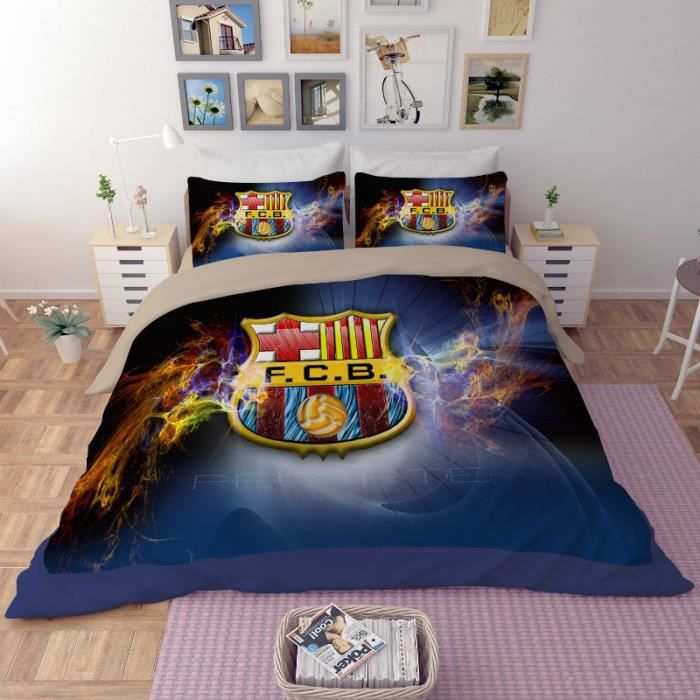 couette football achat vente pas cher. Black Bedroom Furniture Sets. Home Design Ideas