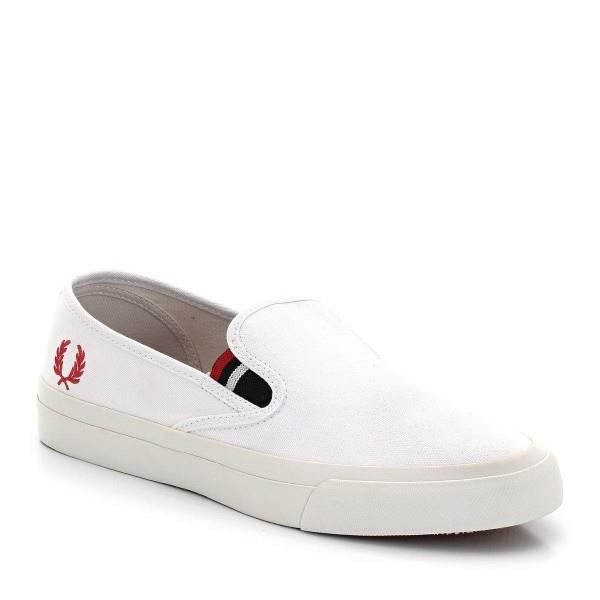 BASKETS HOMME FRED PERRY B6221 BLANC mlKSegJ8