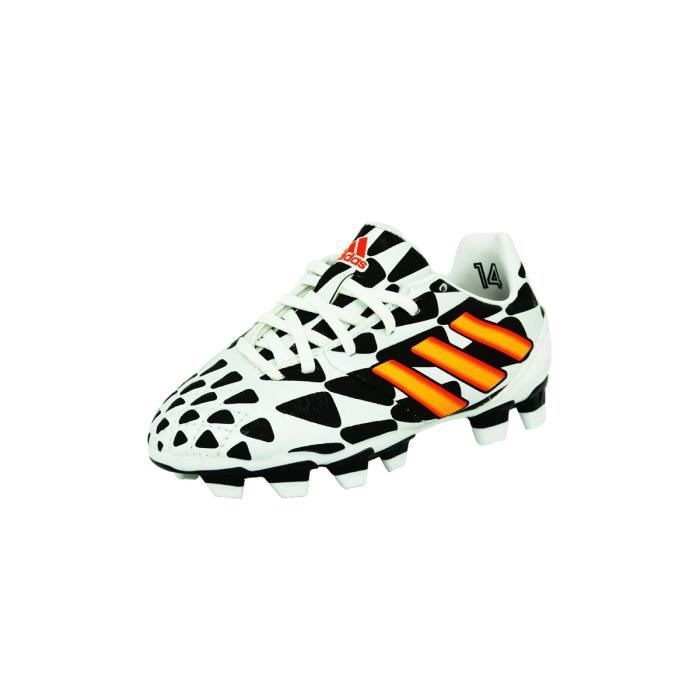 adidas Performance NITROCHARGE 2.0 FG Chaussures de Football Enfant Blanc Noir AdiFit