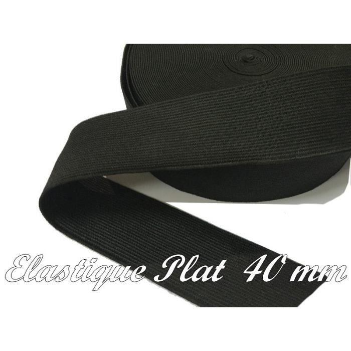 Tissé Ruban élastique avec Sport Texte 32 mm LARGE-Noir//Blanc-Par Mètre