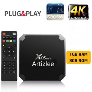 BOX MULTIMEDIA ARTIZLEE® Box TV X96 Mini 4K Décodeur Multimédia B