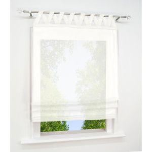 STORE DE FENÊTRE Store Romain Semi-transparent Coton-lin LxH-60x140