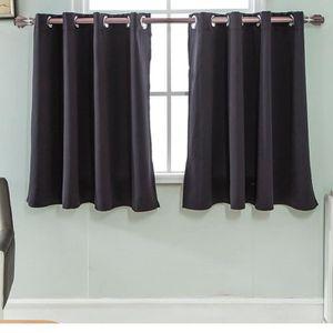 RIDEAU Rideaux occultants de couleur unie - noir #Si-24