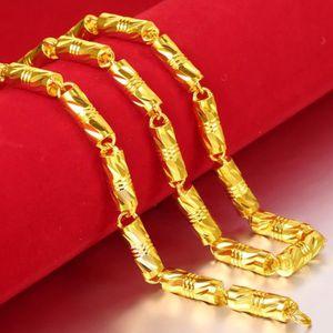 CHAINE DE COU SEULE solide épais lourd chaîne 18k jaune plaqué or clas