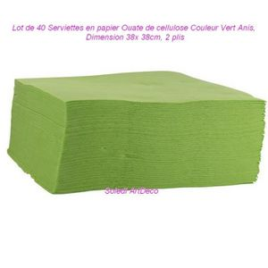 SERVIETTE JETABLE Lot de 40 Serviettes en papier Ouate de cellulose