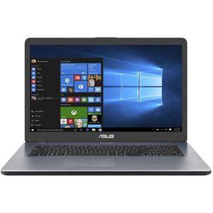 """Top achat PC Portable ASUS Ordinateur Portable - VivoBook 17 X705UA-BX554T - Écran 43,9 cm (17,3"""") - 1600 x 900 - Pentium 4405U - 4 Go RAM - 256 Go SSD pas cher"""