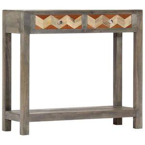 CONSOLE EXTENSIBLE Table console Gris 86 x 30 x 76 cm Bois de manguie