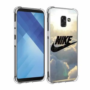 wholesale outlet best quality super specials Coque Pour Samsung Galaxy A8 2018 - A5 2018 A530 Sky Nike Design Souple TPU  Silicone