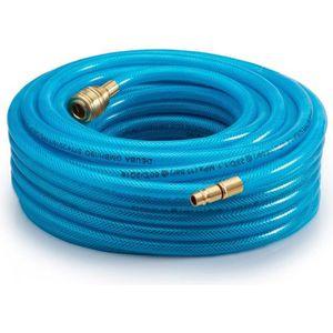 KSTE 15M flexible en caoutchouc pneumatique flexible dair avec 5 pi/èces Compresseur Accessoire Outillage Kit