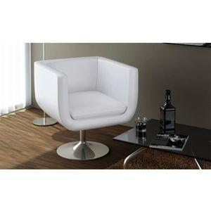 FAUTEUIL Fauteuil ou bureau de salon en cuir de Blanc Faute