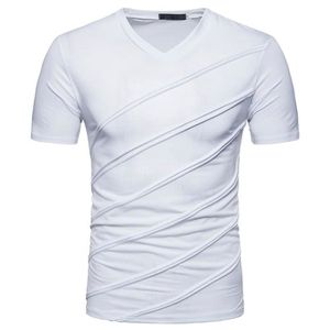 T-SHIRT Tee Shirt Homme Marque-Col V-T-Shirt-Manche Courte