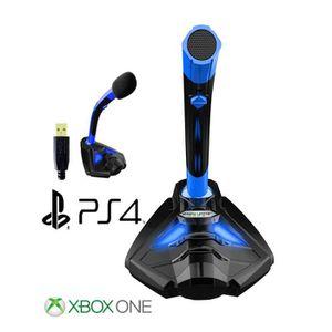 HAUT-PARLEUR - MICRO Microphone  PC gamer PS4, à Pied USB  Professionne